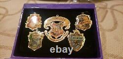 2001 Hallmark Keepsakes Christmas Harry Potter Pewter Ornament Complete set (12)