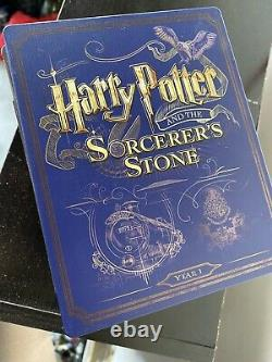 Blu-Ray Harry Potter Complete 8-Film Collection Steelbook Box Set All 16-Discs