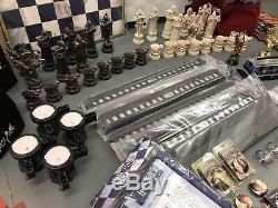 COMPLETE OFFICIAL HARRY POTTER DeAgostini WIZARD CHESS SET With extras MINT COND