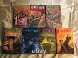 Complete Harry Potter Book Set Volumes 1-7 Hardcover ALL FIRST EDITIONS