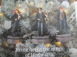 Complete Harry Potter Hogwarts Tree Topper Castle & 3 Christmas Ornaments Set