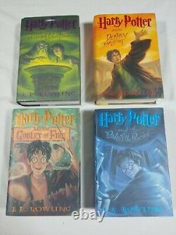 Complete Set of 8 HARRY POTTER Hardcover Books American First Edition Lot