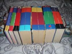 Full complete set First Edition Harry Potter hardback books dust jackets ref4