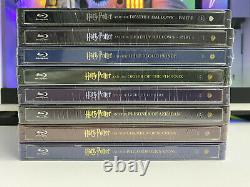 HARRY POTTER Complete 8 Steelbook 16 Blu-ray Collection Import