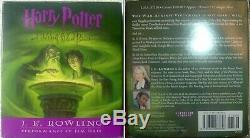 HARRY POTTER Complete Set Years 1-7 by J. K Rowling Audio Books on CDs As New