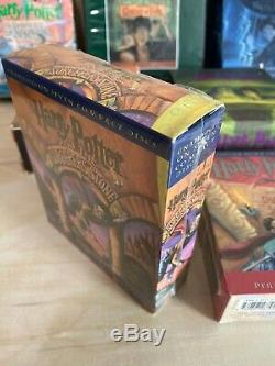 HARRY POTTER Complete Set Years 1-7 by J. K Rowling Audio Books on CDs Some New