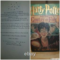 HARRY POTTER books ROWLING Complete Set 1-7 Hardcover (First Edition/1st Print)