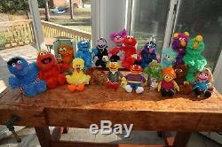 HUGE LOT Sesame Street COMPLETE SET Plush- Collectible- Elmo Abby Cookie- NEW