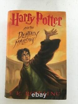 Harry Potter 1-7 Complete Series By JK Rowling Hardcover Set +BONUS Cursed Child