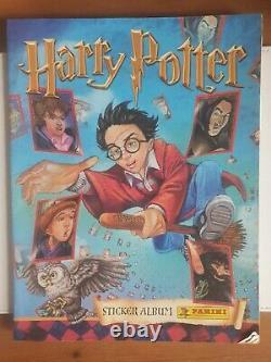 Harry Potter 100% Complete TCG Panini Sticker Album 2001