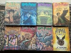 Harry Potter 1st Edition Complete Set 1-7 Hardback/dj Plus Book 8 J. K. Rowling