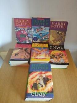 Harry Potter Book Set 1-7 First Edition Bloomsbury Complete Full Set Hardbacks
