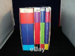 Harry Potter Box Set Complete Set Of 4 Hardback Bloomsbury Boxed Dust Covers