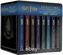 Harry Potter-Complete 8 Film Blu Ray Steelbook Collection, Perfect Condition
