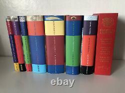 Harry Potter Complete Book Set 1-7 Hardback + Hogwarts Library BookSet First Eds