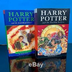 Harry Potter Complete Book Set Signed By Daniel Radcliffe UK JK Rowling