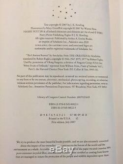 Harry Potter Complete HC Set 1-7 + 1 more JKRowling 1st Amer Ed. FOUR 1st Print