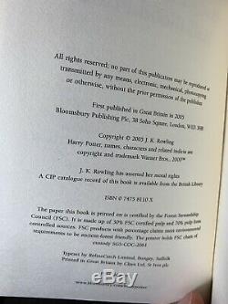 Harry Potter Complete Rare Box Set Black Bloomsbury Edition Hardback 1st Edition