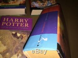Harry Potter Complete Set 1 7 1st First Edition Hardback Books 1st Print