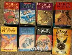 Harry Potter Complete Set Of 7 Hardback Bloomsbury Books (Incl 3x 1st Editions)