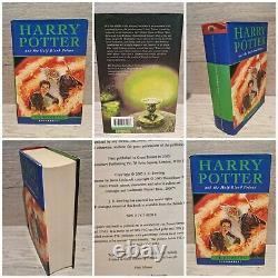 Harry Potter Complete Set Of Hardback Books Bloomsbury 1st Editions JK Rowling