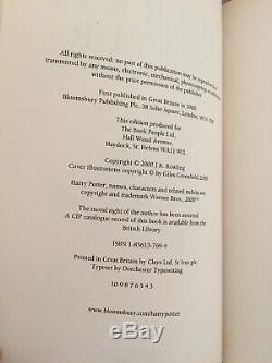 Harry Potter Complete UK Bloomsbury Ted Smart First Editions Hardback Book Set