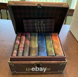 Harry Potter Hardcover Book Complete Series in Collectible Trunk with Sticker Set