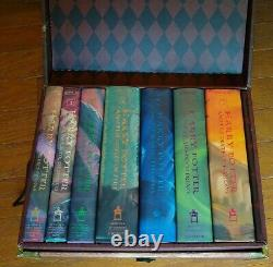 Harry Potter Hardcover Book Complete Trunk Set 1- 7 with Stickers and Tattoos