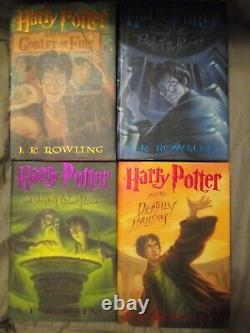 Harry Potter Hardcover Complete Book Set First American Edition/3 first prints