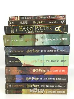 Harry Potter Lot 9 Livres Collection Complète L'Intégrale Grand Format