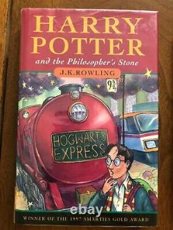 Harry Potter UK Edition First Edition First Printing 1/1 Complete Set