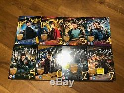 Harry Potter Ultimate Edition Years 1-7 COMPLETE Box Set Blu-rays & DVDs