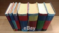 Harry Potter hardback books complete set 3 1st edition Bloomsbury J K Rowling