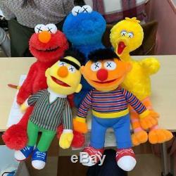 Kaws x Sesame Street Uniqlo Plush Doll Toy Box Set Limited Edition Complete Elmo