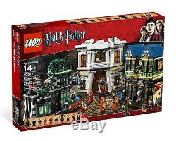 LEGO 10217 Harry Potter Diagon Alley Complete, Minifigures, Instructions, NO BOX