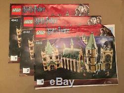 LEGO Harry Potter Hogwarts Castle 4842 & 4867 Both 100% Complete Without Box