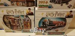 Lot of 6 Harry Potter 3d Puzzles Complete Collection