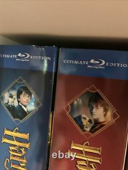 Lot of Harry Potter Ultimate Edition Years 1-7 Blu-ray Complete Set Rare OOP