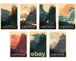 Olly Moss Harry Potter Giclee Prints Ltd. Edition Complete Set of 7 SOLD OUT