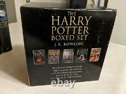 RARE! Harry Potter Complete Set Adult UK Edition Bloomsbury Hardcover Box