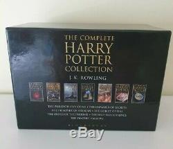 Rare Complete HARRY POTTER UK HARDCOVER ADULT BOXED SET 1-7 1st Ed JK Rowling