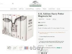 U. K. Collector's Edition Harry Potter Hogwarts Complete Set Bloomsbury