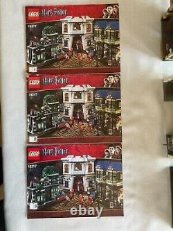 Very Very nice Lego Harry Potter 10217 Diagon Alley Complete no box Retired