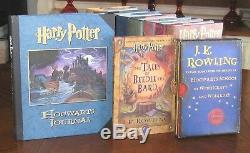 (12) Jk Rowling Harry Potter 1ère Ed Hcdj Set Complet, 8 Premières Impressions
