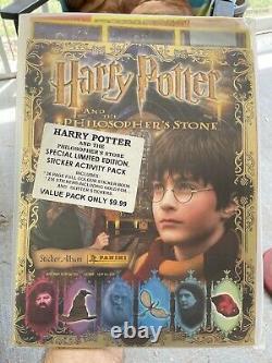 2001 Harry Potter Panini Philosopher Pierre-album W Autocollant Complet Set Scellé