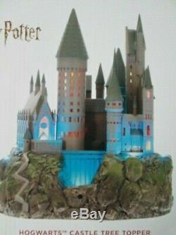 Arbre Complet Harry Potter Château De Poudlard Topper & 3 Set Ornements De Noël
