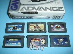 Arctic Gameboy Advance Gba Complète Dans Une Boîte Avec 6 Jeux Yugioh Harry Potter