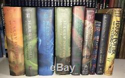Complete 1ère Édition Harry Potter Set 1-7 Hb & 2 Bonus -ultimate Lot De 9