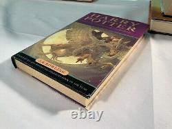 Complete Harry Potter Hardback Full Book Set Y Compris 4 1er Éditions + Extras