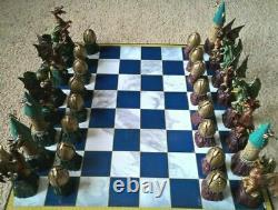 Deagostini Harry Potter 64 Piece Chess Set Avec 2 Planches Complètes Rares + Extras